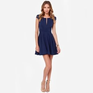 Lulus Top Contender Fit and Flare Dress